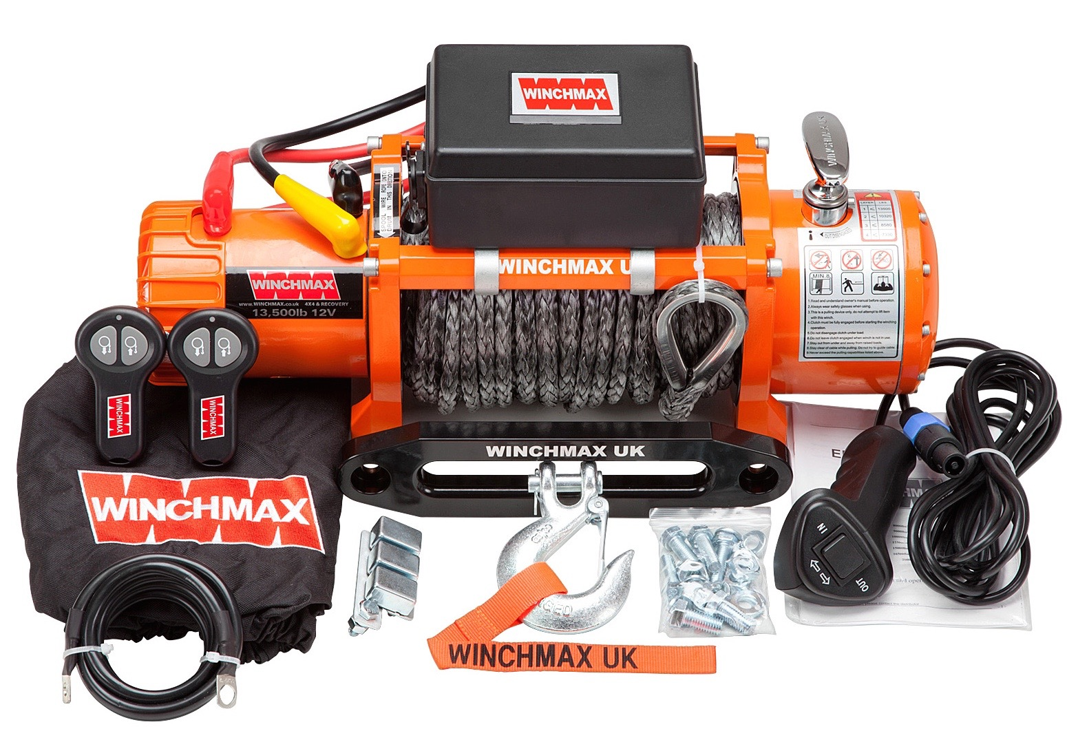 WINCHMAX 13500LB 12V ELECTRIC WINCH DYNEEMA ROPE WITH WIRELESS REMOTES