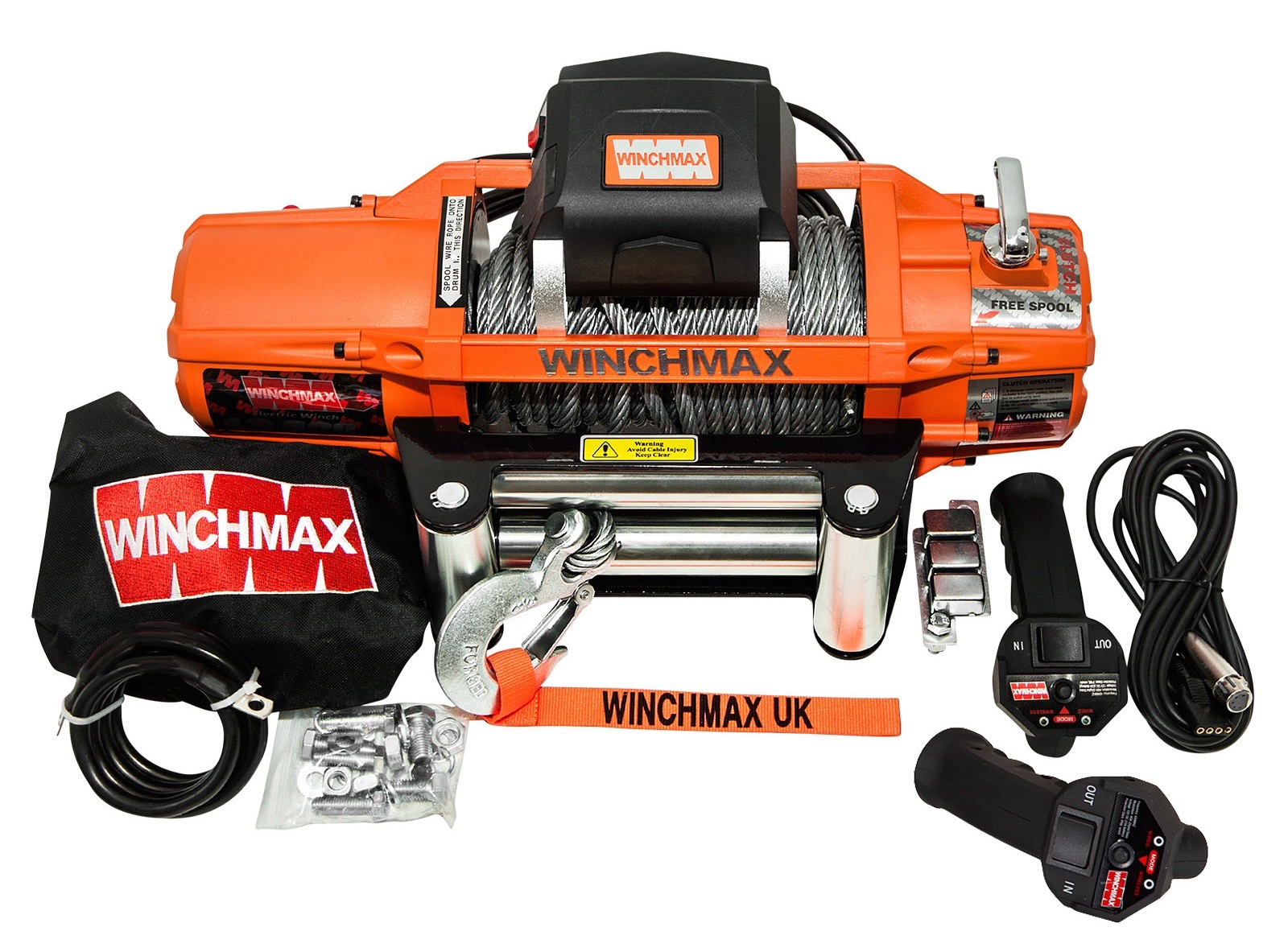 WINCHMAX SL13500LB 12V ELECTRIC STEEL CABLE WINCH WITH WIRELESS REMOTES