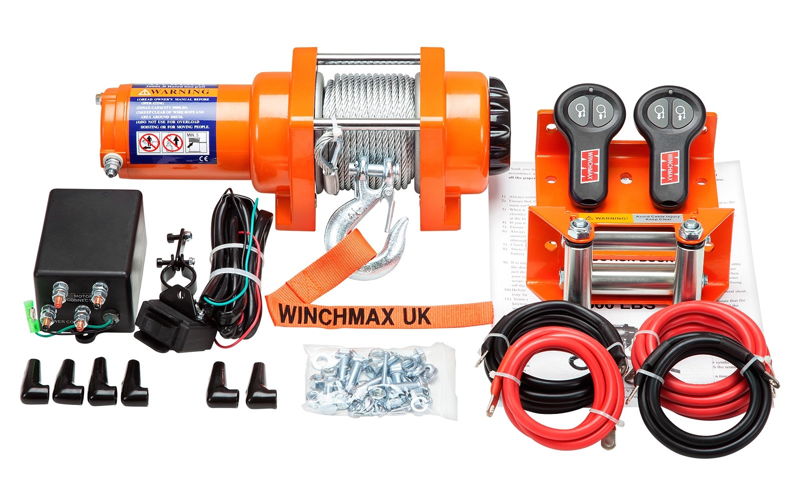 WINCHMAX ATV 3000LB 12V ELECTRIC WINCH WITH WIRELESS REMOTES