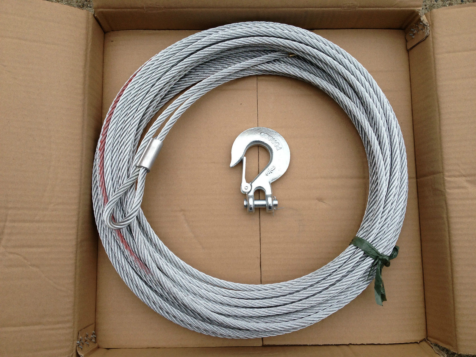 WINCH CABLE STEEL 24M X 9.5MM