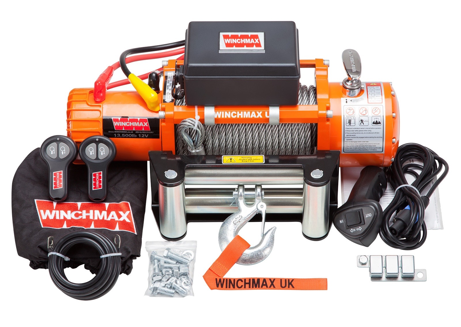 product_view.php?pid=WINCHMAX 13500LB 24V ELECTRIC STEEL CABLE WINCH WITH WIRELESS REMOTES
