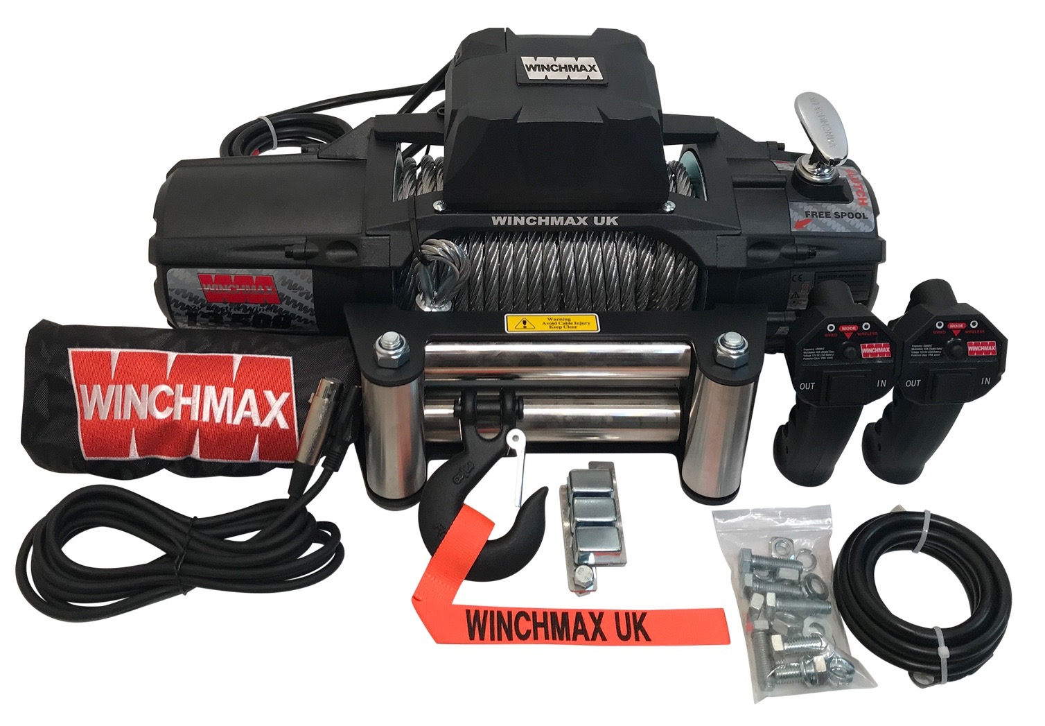 WINCHMAX MILITARY SPEC 13500LB 12V ELECTRIC WINCH WITH WIRELESS REMOTES